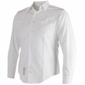 US Army ASU White Dress Long Sleeve Uniform Shirt 16 x 34 and 35 sleeve Large