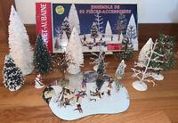 Lemax Village 30 Piece Collection Accessory Set - 1995 Christmas Village