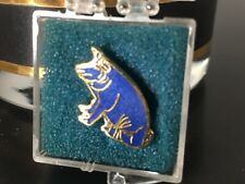 Vintage Pig Swine Tie Tac Pin Clasp Gold Tone Outdoorsman Accessory Collectible