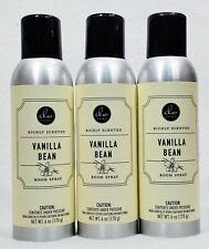 3 DW Home VANILLA BEAN Richly Scented Room Spray Perfume Fragrance