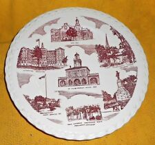 SCENES OF FAYETTVILLE NORTH CAROLINA PLATE/MADE FOR HATCHER`S JEWELRY STORE V.K.