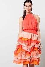 Anthropoloigie Lilian Halter Ruffled Dress by Chris Benz-2-$298 MSRP
