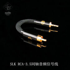 SLK Audio RCA to 3.5mm Stereo 75Ω Coaxial Cable Cord for cayin N5 DX100 DX90 DB2