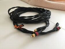 Vovox 4 meter audio interconnect cable pair with gold plated RCA