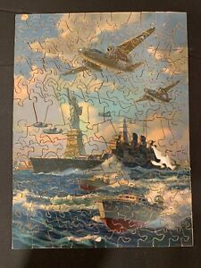 "1943 Joseph Straus Wooden Jig Saw Puzzle ""Safeguards of Liberty"" No 222"
