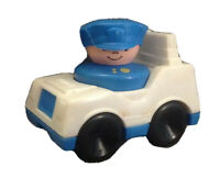1990 CHUNKY LITTLE PEOPLE POLICE MAN & POLICE CAR