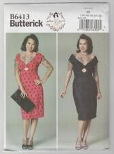 Butterick Sewing Pattern B6413 By Gertie Retro Front Keyhole Dresses Sz 14-22