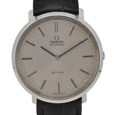 Vintage OMEGA Deville Stainless/Leather Cal.711 Automatic Men's Watch S#B2168