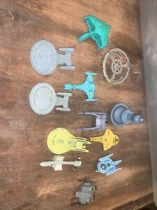 12x Star Trek Micro Machines Ships Bundle Enterprise Borg Cube Warbird Lot of 12