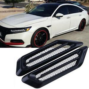 1Pair Black Accessories Car Side Air Flow Vent Fender Decorative Decor Sticker
