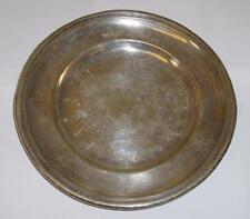 Ancienne assiette en métal argenté marquée RENEKA STRASBOURG Buffet de Mulhouse