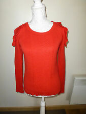 Pull ROUGE Orangé PROMOD, NEUF, Taille M 38/40