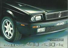 MASERATI 430 430 4v Betriebsanleitung 1992 Conduite et Entretien Handbuch BA