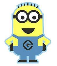 DESPICABLE ME MINION SHAPED RUG MAT CARPET OFFICIAL FOR KIDS BEDROOM BOYS GIRLS