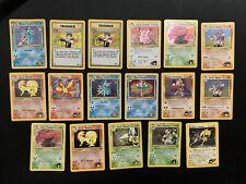Pokemon Gym Heroes Gym Challenge holo rare lot of 17 Venusaur Ninetales Moltres