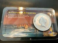 1992 Australian 1oz Silver Kookaburra .999 Fine Silver - Littleton Pack  TONED!