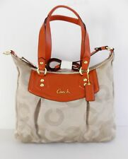 NWT Coach 20068 Ashley Dotted OP Art  Shoulder Bag ~ Khaki/Vermillion