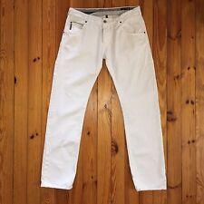 ARZ24 Men's Armani Jeans J08 Slim Fit White Jeans Size W34 L34