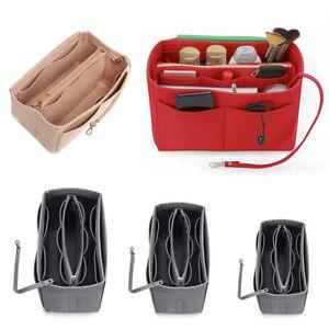 Travel Organiser Handbag Felt Bag Tote Insert Liner Purse Pouch Women Storage