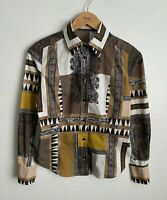 ETRO Designer Shirt Long Sleeve Womens Size 42 Multicolored Made in Italy Ladies