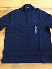 NEW Polo Ralph Lauren Mens Navy Large 1/4 Zip Sweater - $98 - Size Navy L NWT