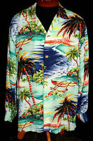 "RARE COLLECTOR'S 1950'S ""HALE OF HAWAII"" LONG SLEEVE HAWAIIAN SHIRT SIZE LARGE"