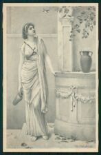 Viennoise H. Ryland Glamour Fashion Lady M M Vienne serie 328 postcard TC3790