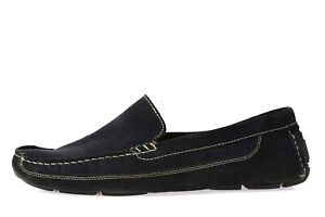 Mens J.F J. FERRAR dark navy blue suede loafers sz. 10.5