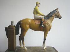 More details for racehorse & jockey table match striker / cigar lighter k426