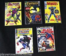 """Lot of 5 The Black Panther Comic Book Cover 2"""" X 3"""" Fridge Magnets. Avengers"""