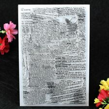 Newspaper Background Scrapbook DIY photo cards clear stamp transparent stamp