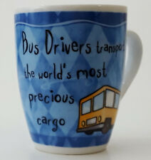 "MUG FOR SCHOOL BUS DRIVER COFFE CUP "" A BRILLIANT BUS DRIVER """
