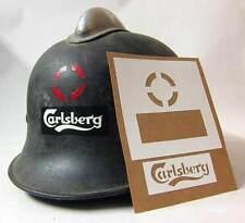 German Carlsberg Beer Factory Helmet Stencil WW2 Template WWII M34 M35 M40 M42