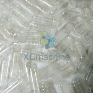 1k-10k Size 00 Clear Empty Gelatin Capsules Pill Pure Halal Kosher Separated