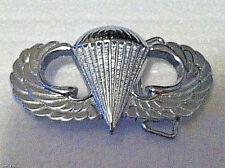 Airborne Belt Buckle (Solid Brass) Silver