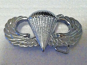 Airborne Belt Buckle (Solid Brass) Silver