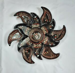 8pc Handmade Handpainted Ceramic Bowl Set, Turkish Breakfast Halloween Decor