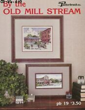 Vintage 1987 By the Old Mill Stream Cross Stitch Leaflet - Puckerbrush
