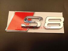Chrome ABS S 8 Trunk Rear Number Letters Badge Emblem Sticker for Audi S8