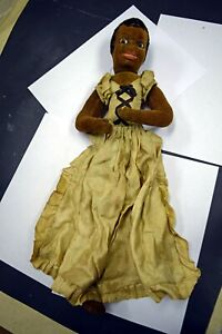 antique cloth black doll