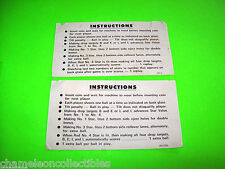 LIBERTY BELL By WILLIAMS 1977 ORIGINAL PINBALL MACHINE SET 2 INSTRUCTION CARDS
