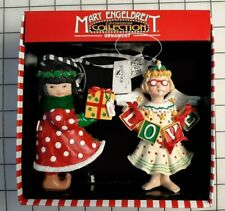 Mary Engelbreit Christmas Ornament Set Angel Girl Gift Love Kurt S Adler