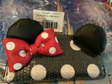 Disney Parks Minnie Mouse Loungefly Sequin Polka Dot Wallet. Retired Nwt 50.00