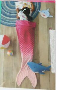 Mermaid Tail Blanket Pink Ombre by Pillowfort for Kids NIP **SO CUTE**