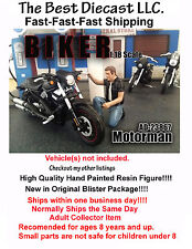 Biker Motorman American Diorama 1:18 Figure Will fit with a motorcycle