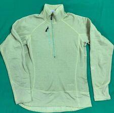 Patagonia R1 Regulator Pullover 1/2 Zip Jacket Women's SZ S Yellow Made In USA