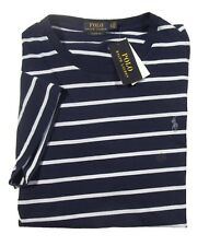 Polo Ralph Lauren Men's Crewneck Shirt Short Sleeve Striped Navy XL