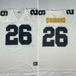 ROD WOODSON #26 size XL / 52 white PITTSBURGH STEELERS STARTER JERSEY