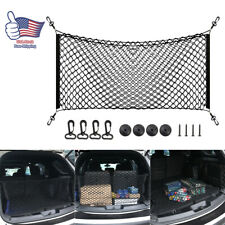 Car Accessories Envelope Style Trunk Cargo Net Storage Organizer Universal Black