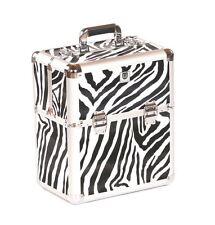 Urbanity nail polish storage case beauty cosmetic makeup box hard vanity zebra